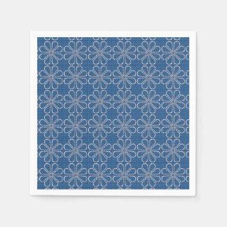 Serviettes bleues serviette en papier