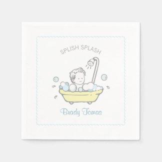 Serviettes de baby shower de bain moussant de serviette en papier