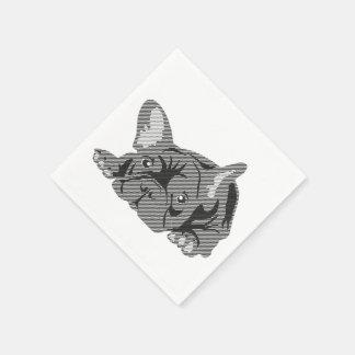 Serviettes de bouledogue français serviettes jetables