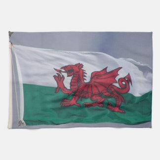 Serviettes de cuisine de drapeau du Pays de Galles Serviettes Pour Les Mains