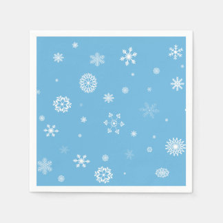 Serviettes de flocon de neige serviettes jetables