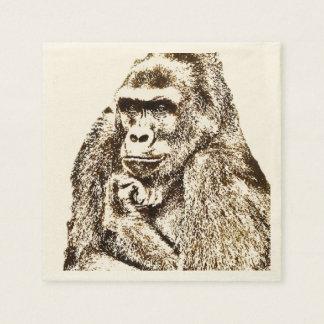 Serviettes de gorille serviette en papier
