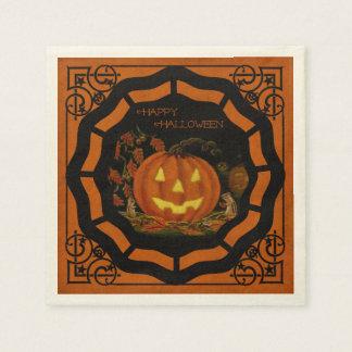 Serviettes de Halloween Jack-o'-lantern Serviette En Papier