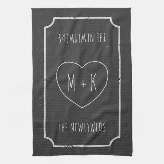 Serviettes de main de cuisine de mariage de serviettes éponge