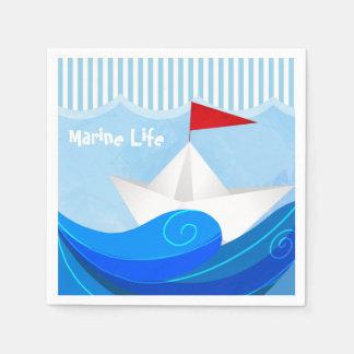 Serviettes de papier de bateau serviette jetable