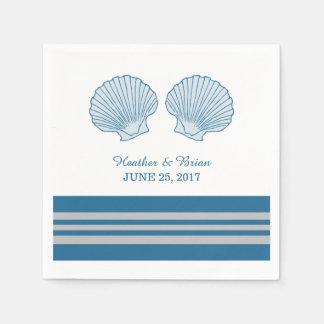Serviettes de papier de coquillages nautiques de serviettes jetables