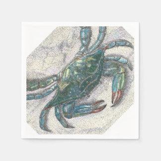 Serviettes de papier de crabe bleu serviette jetable