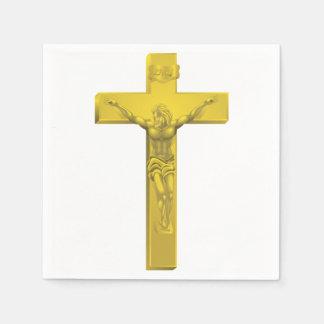 Serviettes de papier de crucifix serviettes en papier