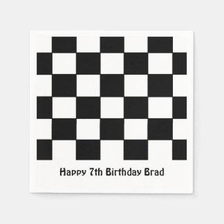 """Serviettes de papier """"de drapeau Checkered"""" Serviettes Jetables"""