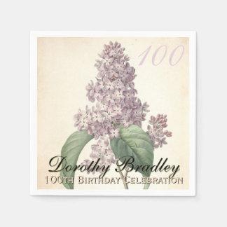 Serviettes de papier de fête d'anniversaire de