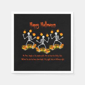 Serviettes de papier de Halloween, squelette Serviette En Papier