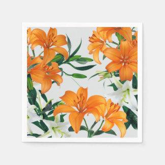 Serviettes de papier de lis floraux serviettes en papier