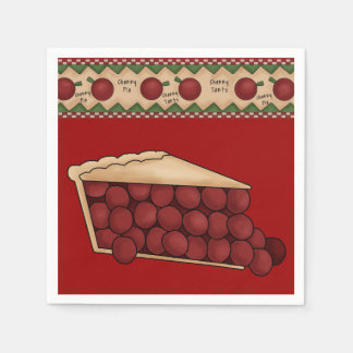 Serviettes de papier de tarte aux cerises douce serviette jetable
