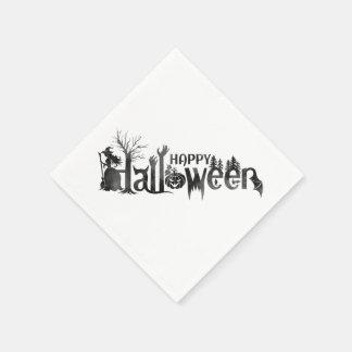 Serviettes de papier déplaisantes de Halloween Serviettes Jetables