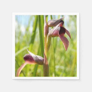 Serviettes de papier d'orchidée de langue serviettes jetables