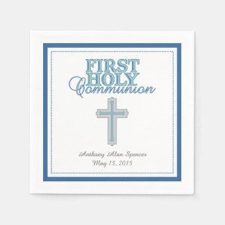 Serviettes de papier sainte communion bleue de serviette en papier