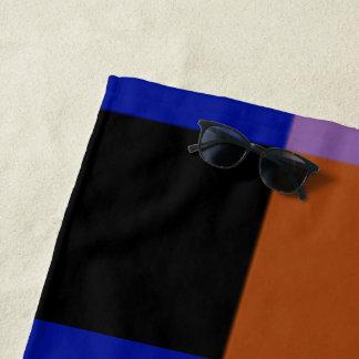 Serviettes de plage multicolores de myrtille par