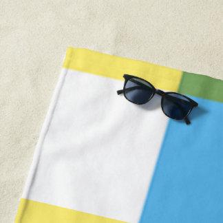 Serviettes de plage multicolores jaune citron par