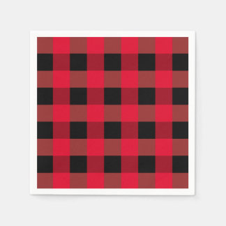 Serviettes de plaid de Buffalo Serviette En Papier
