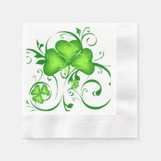 Serviettes de remous de shamrock serviettes jetables