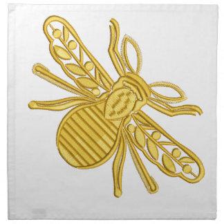 Serviettes De Table abeille royale, imitation de broderie
