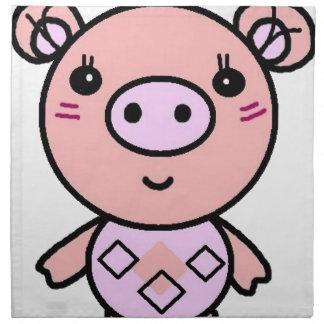 Serviettes De Table art rose de porc