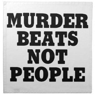 Serviettes De Table Battements de meurtre