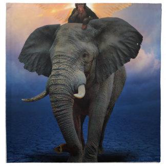 Serviettes De Table beau heureux de bébé d'éléphant de joie animale