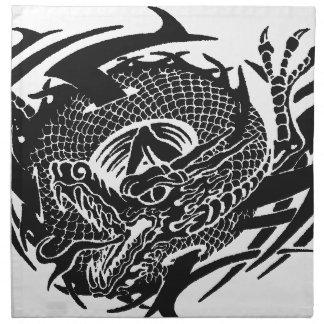 Serviettes De Table Black Dragon 2.gif