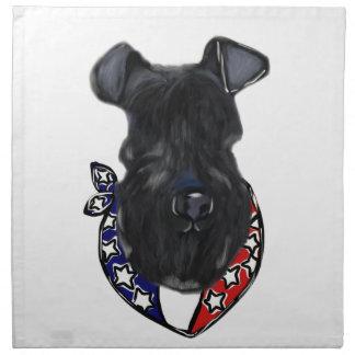 Serviettes De Table Bleu de Kerry Terrier 4 juillet