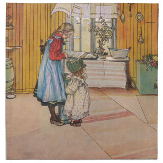 Serviettes De Table Carl Larsson vintage la cuisine
