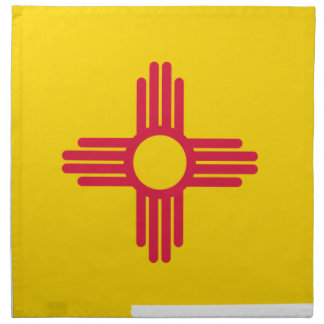 Serviettes De Table Carte de drapeau du Nouveau Mexique