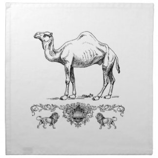 Serviettes De Table chameau de fantaisie de lion