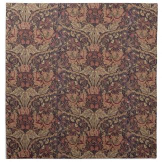 Serviettes De Table Chèvrefeuille 1876 de William Morris de cru