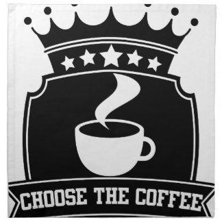 Serviettes De Table choisissez le café