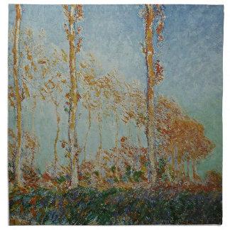 Serviettes De Table Claude Monet - l'illustration de peupliers