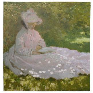 Serviettes De Table Claude Monet - oeuvre d'art de printemps