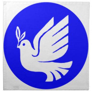 Serviettes De Table Colombe de paix