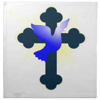 Serviettes De Table Colombe et croix