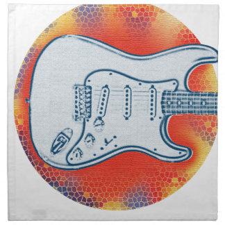 Serviettes De Table Conception rouge et bleue de guitare