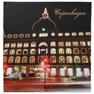 Serviettes De Table Copenhague, Danemark la nuit