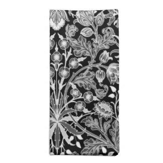 Serviettes De Table Copie de jacinthe de William Morris, noire et