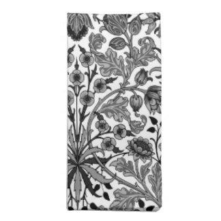 Serviettes De Table Copie, noir, blanc et gris de jacinthe de William
