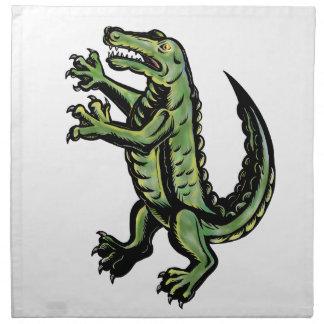 Serviettes De Table Crocodile tenant le tatouage