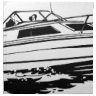 Serviettes De Table Croiseur de bateau de vitesse