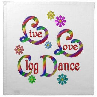 Serviettes De Table Danse d'entrave vivante d'amour