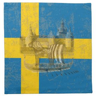 Serviettes De Table Drapeau et symboles de la Suède ID159
