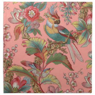 Serviettes De Table Duchesse de ~ de perroquet d'Edwardian