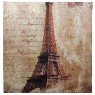 Serviettes De Table Eiffel Tower vintage Paris