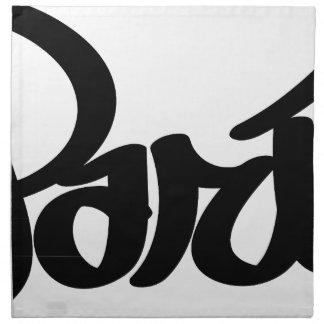 Serviettes De Table étiquette de graffiti de Paris